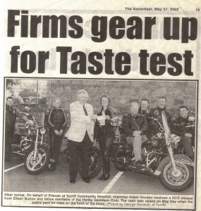 2 Bikers Donation May 2002