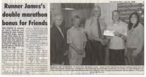 James Parker Marathon Donation July 2005