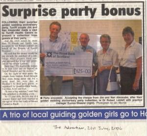 11a Golden Wedding Donation July 2006
