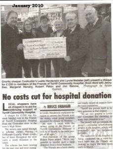 1 Costcutters Donation Jan 2010