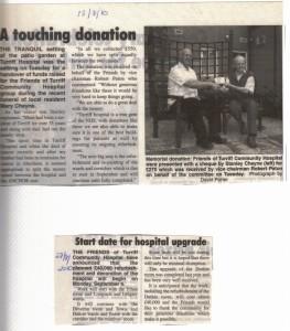 8 Mary Cheyne Donation Aug 2010