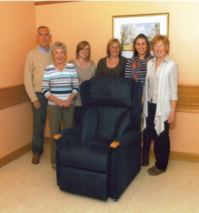 8a Sky dive reclining chair donation Nov 2011
