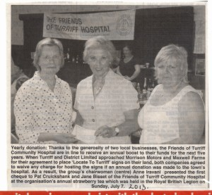 4 Locate to Turriff Donation July 2013