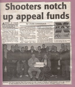 Archive 1997-99  23 X Ray Clay Shoot donation
