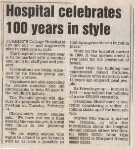 Archive 1997-99  29 Centenary Plans