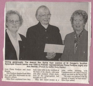 Archive 1997-99  43 Donation from St Congans