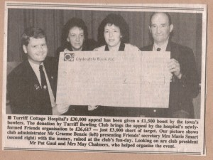 Archive 1997-99  47 Turriff Bowling Club Donation