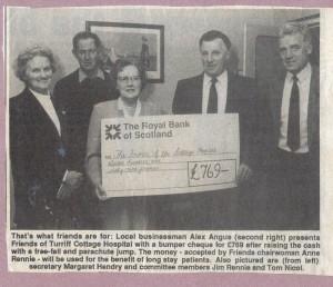 Archive 1997-99  48 Parachute jump donation
