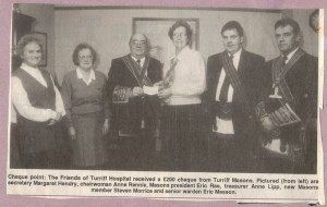 Archive 1997-99  50 Turriff Masons Donation