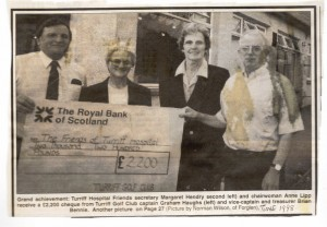 Archive 1997-99  7 Golf Club Donation 1998