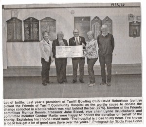 Archive 2016 - 2 Bowling Club Donation Feb 2016